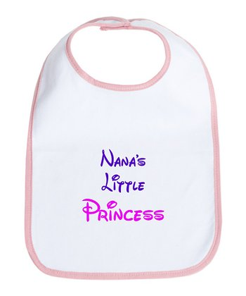 Petal Pink & White 'Nana's Little Princess' Bib