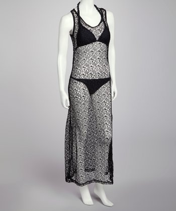 Black Mesh Cover-Up- Women