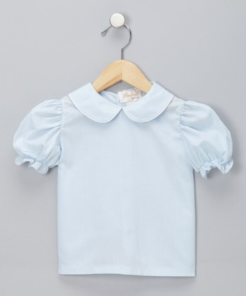 Light Blue Blouse - Infant, Toddler & Girls