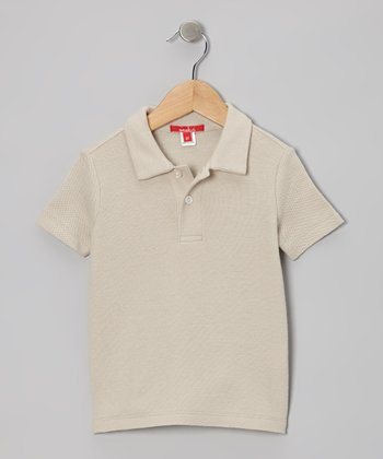 Sand Dressy Polo - Toddler & Boys