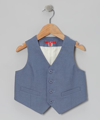 Indigo Dressy Linen-Blend Vest - Infant, Toddler & Boys