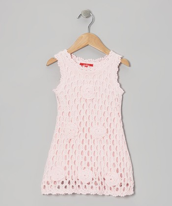 Shell Rose Crochet Swing Dress - Toddler & Girls
