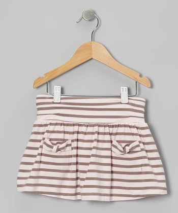 Shell Stripe Pleated Skort - Toddler & Girls