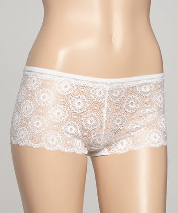 White Lace Hipster - Women