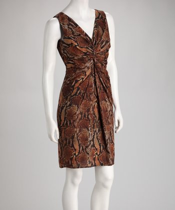 Brown Snakeskin Dress