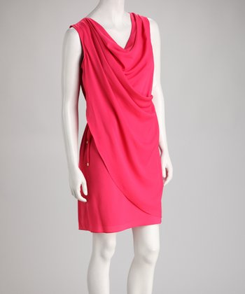 Rose Drape Dress