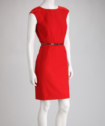 Flame Belted Dress
