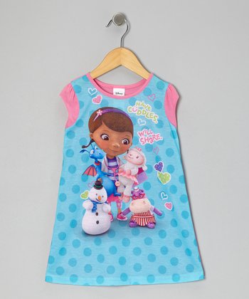 Pink & Aqua 'Have Cuddles' Nightgown - Toddler