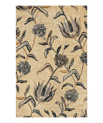 Ivory & Blue Florence Wildflowers Wool Rug