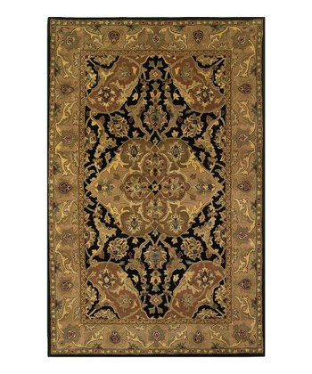 Black & Coffee Taj Palace Polynaise Wool Rug