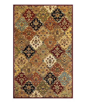 Jeweltone Taj Palace Panel Wool Rug