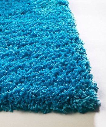 Highlighter Blue Bliss Shag Rug