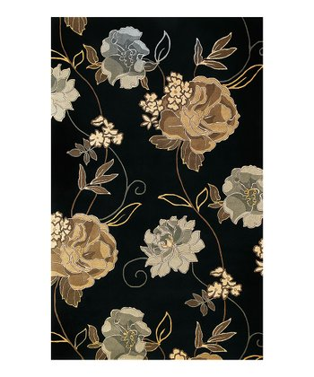 Black Paradise Catalina Wool Rug