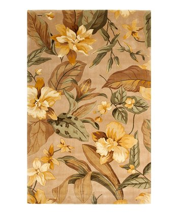 Beige & Yellow Exotic Catalina Wool Rug