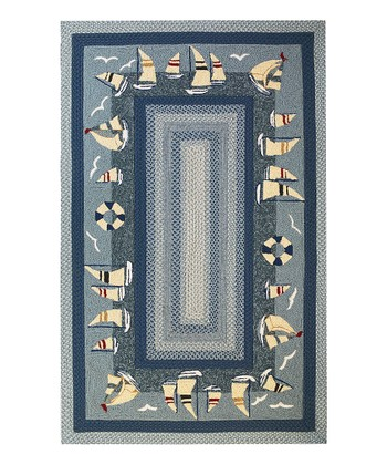 Blue Sailboat Indoor/Outdoor Rug