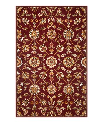 Burgundy Allover Tabriz Sonal Wool Rug