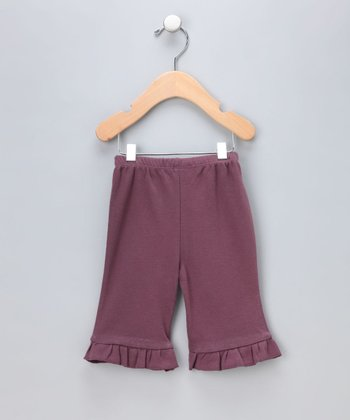 Eggplant Organic Capri Pants - Infant & Toddler