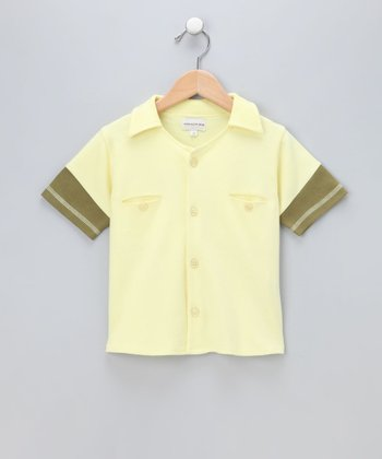 Banana Organic Button-Up - Infant & Toddler