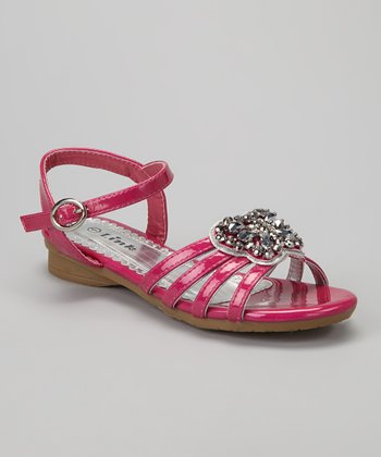 Fuchsia Butterfly Sandals