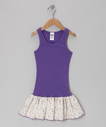 Purple Heart Frill Drop-Waist Dress - Toddler & Girls