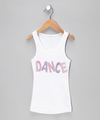 Bubblegum Diva White & Hot Pink 'Dance' Tank - Toddler & Girls