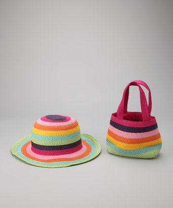 Rainbow Bright Straw Sunhat & Handbag