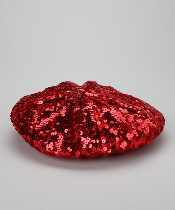 Red Sequin Beret