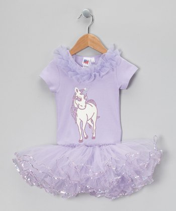 Lavender Unicorn Tutu Dress - Toddler & Girls