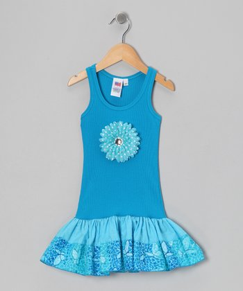 Blue Butterfly Dress - Toddler & Girls