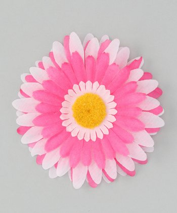 Pink & Hot Pink Flower Clip