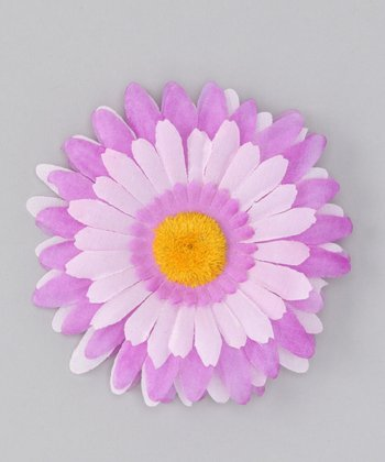 Purple & Pink Flower Clip