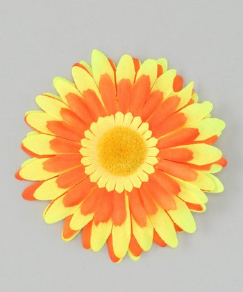 Yellow & Orange Flower Clip