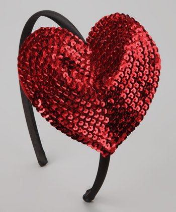 Bubblegum Diva Red Sequin Heart Headband