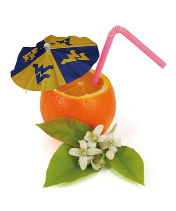 West Virginia Paper Drink Umbrella Set
