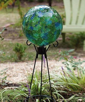 Green Mosaic Glass Gazing Ball