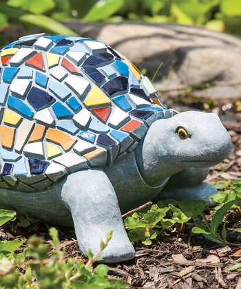 Turtle Mosaic Tile Figurine