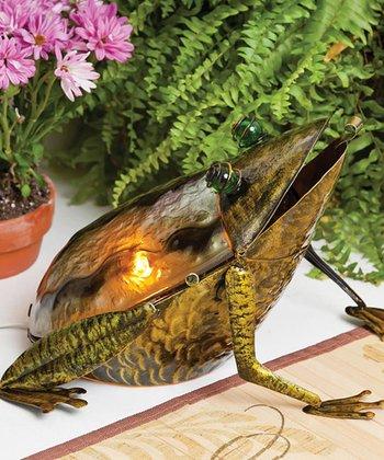 Amber Frog Lamp