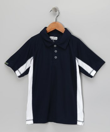 Navy Easton Polo - Boys