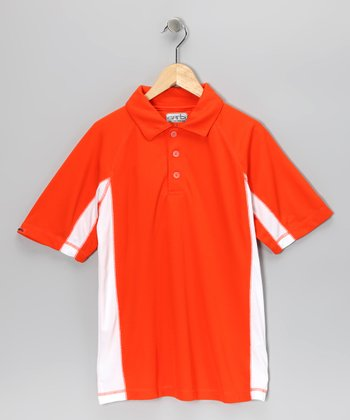 Orange Easton Polo - Boys