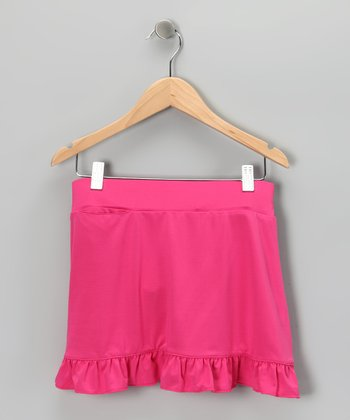 Bright Pink Willow Skort - Toddler & Girls
