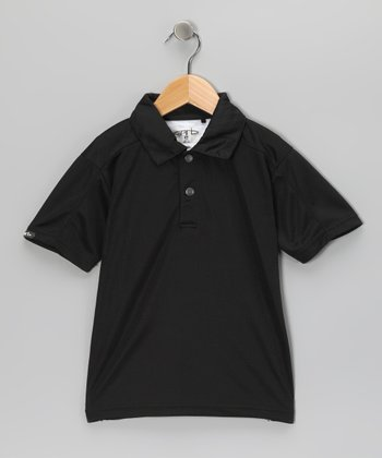 Black Dave Polo - Toddler & Boys