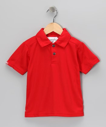 Red Dave Polo - Toddler & Boys