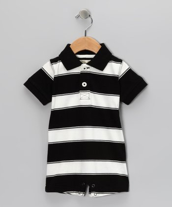 Black Tyler Romper - Infant