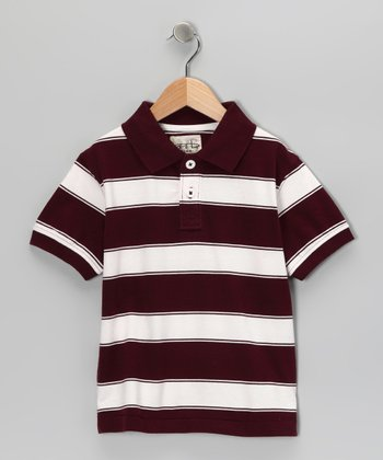 Maroon Tyler Polo - Toddler & Boys