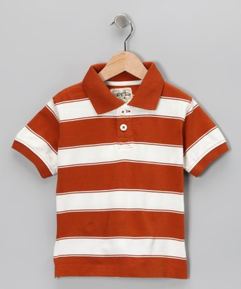 Texas Orange Tyler Polo - Toddler & Boys