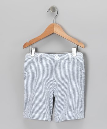 Navy Davis Shorts - Infant, Toddler & Boys