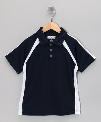 Navy Reese Polo - Toddler