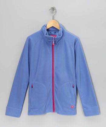 Lilac Stella Fleece Zip-Up Jacket - Girls