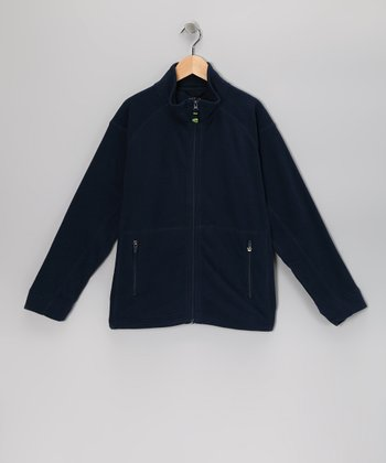 Navy Beck Zip-Up Jacket - Boys