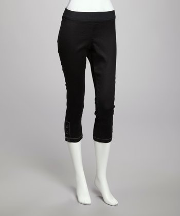 Black Liz Capri Jeggings